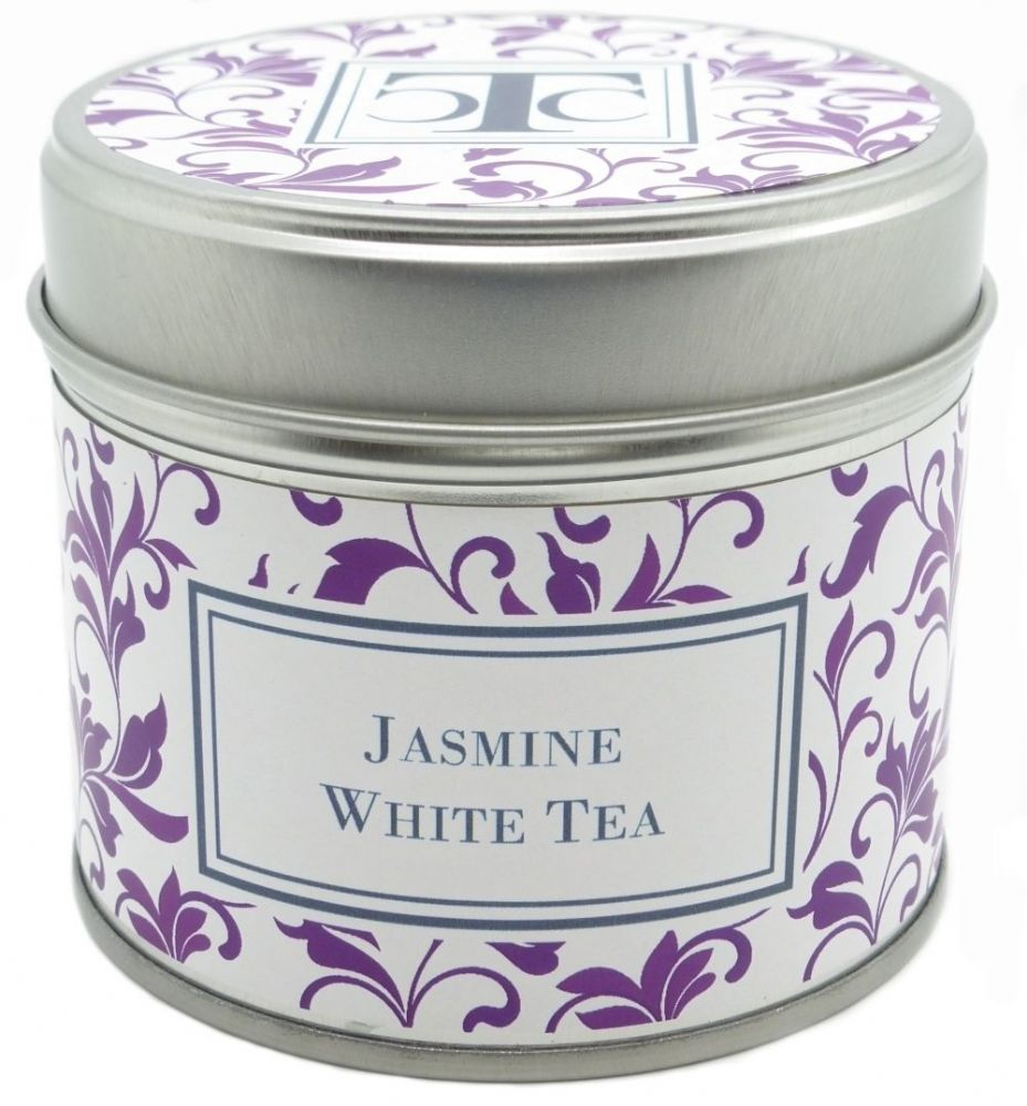 Jasmine White Tea Scented Candle Tin 35 hour